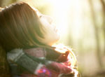 image of girl in sunlight