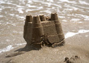 photo of sandcastle