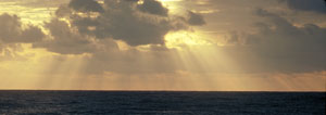 image of sunrise over ocean